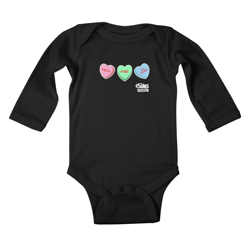 The Sims FreePlay Candy Hearts Kids Baby Longsleeve Bodysuit by The Sims Official Threadless Store