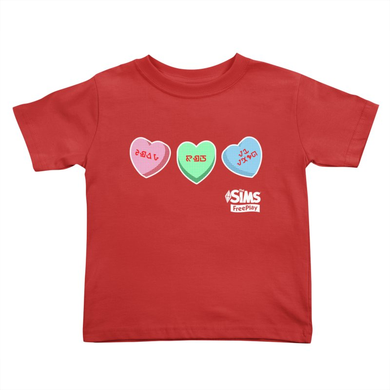 The Sims FreePlay Candy Hearts Kids Toddler T-Shirt by The Sims Official Threadless Store