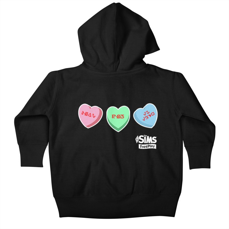 The Sims FreePlay Candy Hearts Kids Baby Zip-Up Hoody by The Sims Official Threadless Store