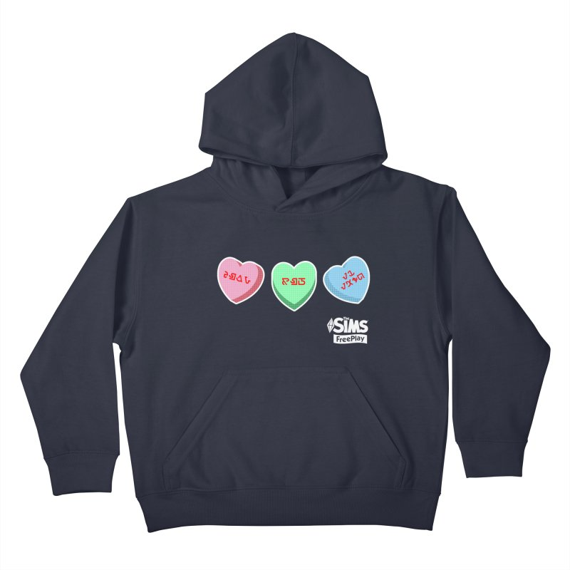The Sims FreePlay Candy Hearts Kids Pullover Hoody by The Sims Official Threadless Store