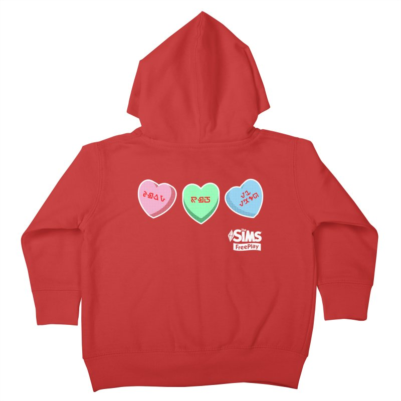 The Sims FreePlay Candy Hearts Kids Toddler Zip-Up Hoody by The Sims Official Threadless Store