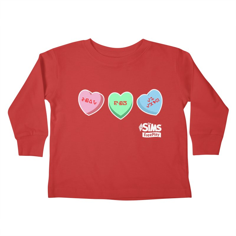 The Sims FreePlay Candy Hearts Kids Toddler Longsleeve T-Shirt by The Sims Official Threadless Store