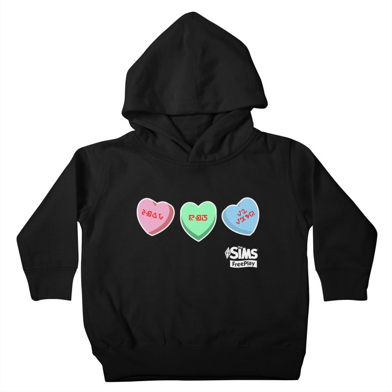 The Sims FreePlay Candy Hearts Kids Toddler Pullover Hoody by The Sims Official Threadless Store
