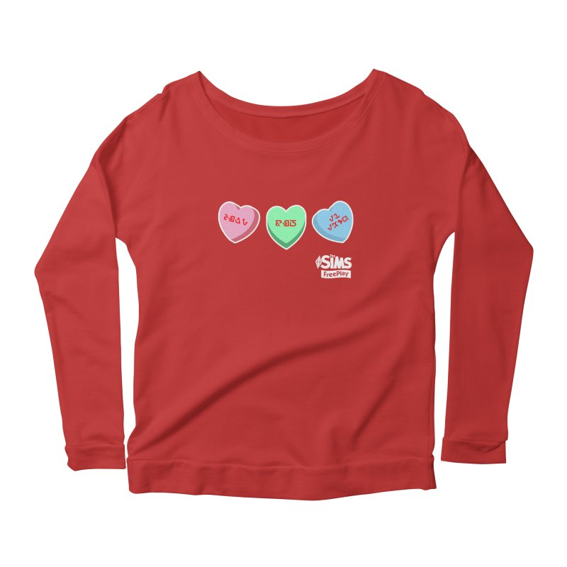 The Sims FreePlay Candy Hearts Women's Longsleeve Scoopneck  by The Sims Official Threadless Store
