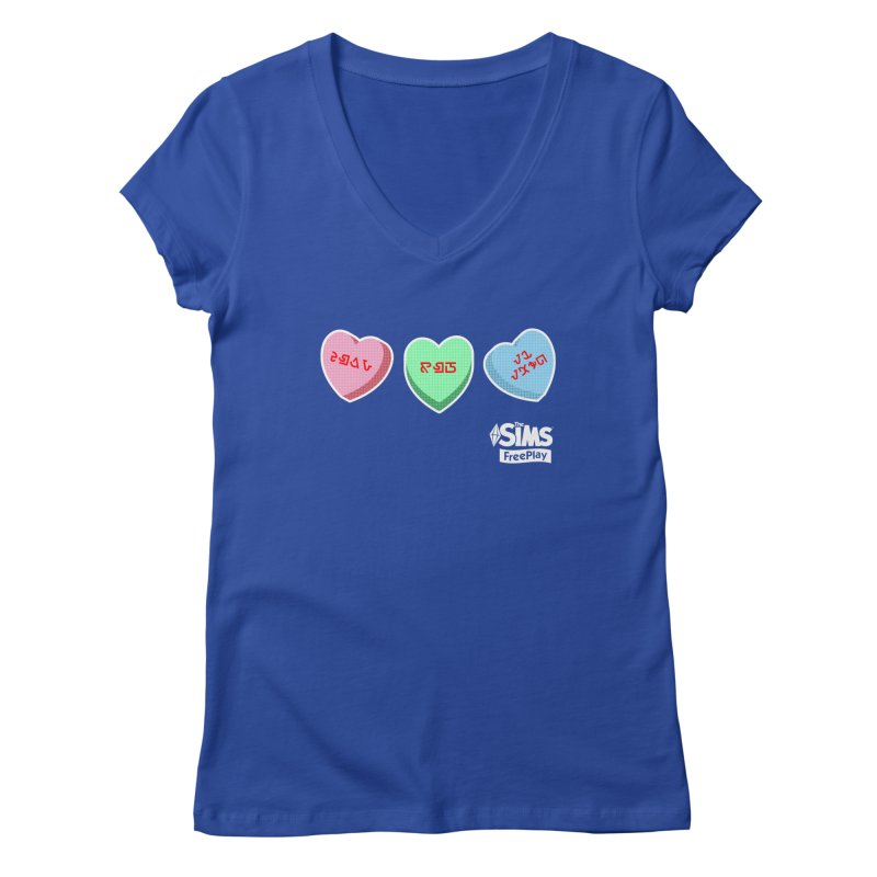 The Sims FreePlay Candy Hearts Women's Regular V-Neck by The Sims Official Threadless Store