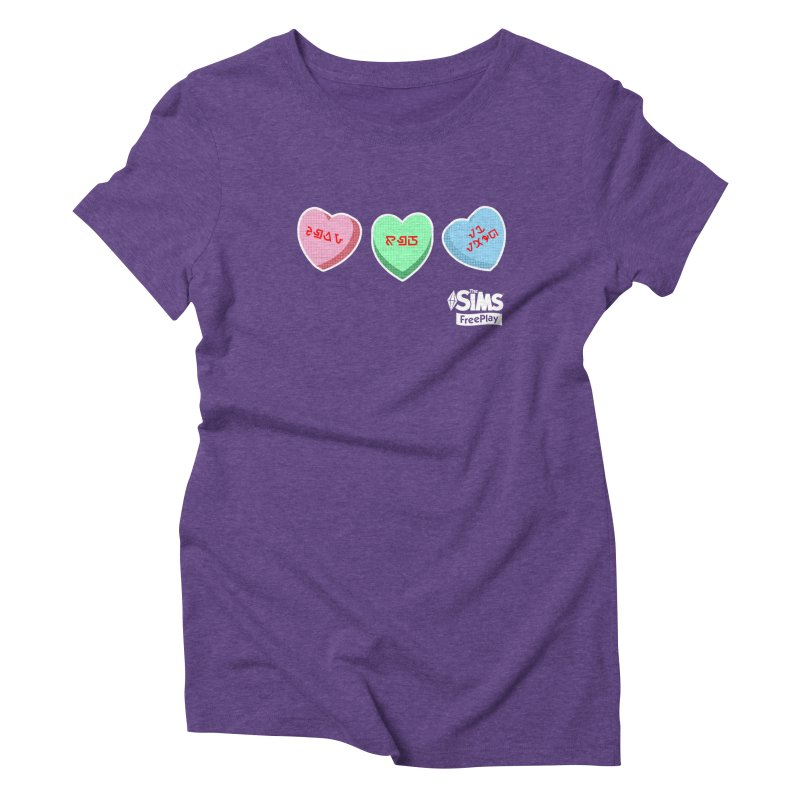 The Sims FreePlay Candy Hearts Women's Triblend T-Shirt by The Sims Official Threadless Store
