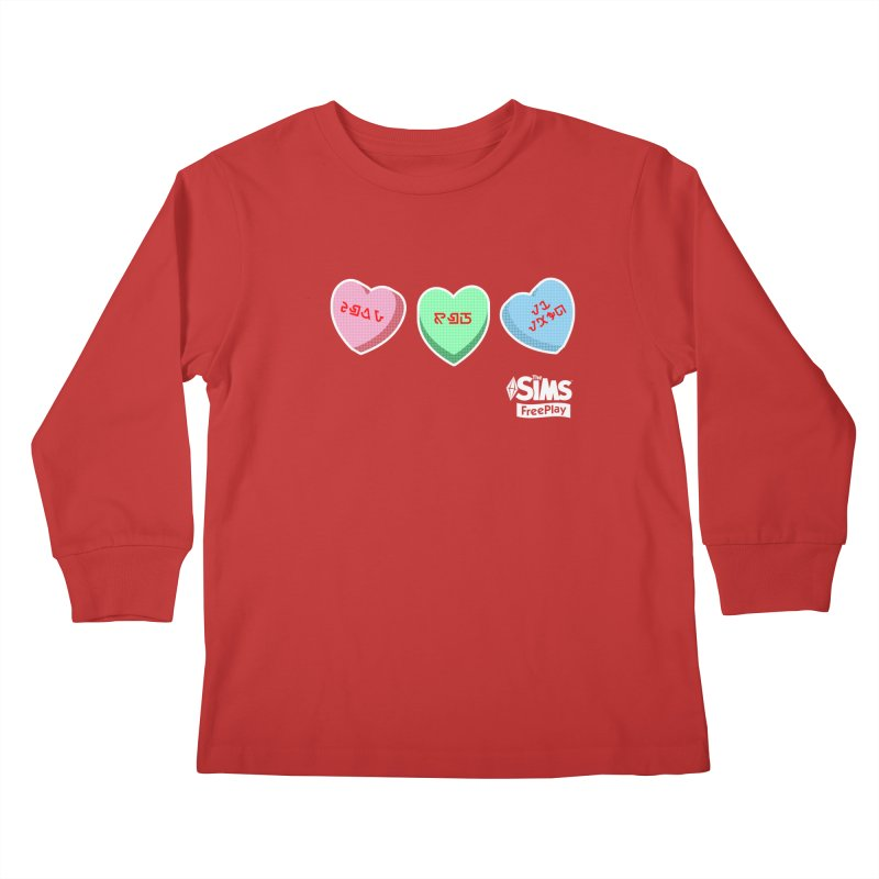 The Sims FreePlay Candy Hearts Kids Longsleeve T-Shirt by The Sims Official Threadless Store