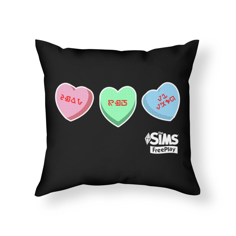 The Sims FreePlay Candy Hearts Home Throw Pillow by The Sims Official Threadless Store