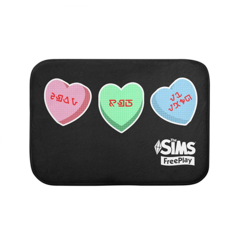 The Sims FreePlay Candy Hearts Home Bath Mat by The Sims Official Threadless Store