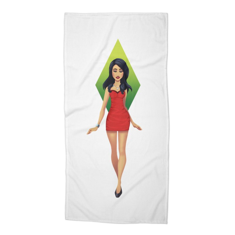 Bella Goth Accessories Beach Towel by The Sims Official Threadless Store