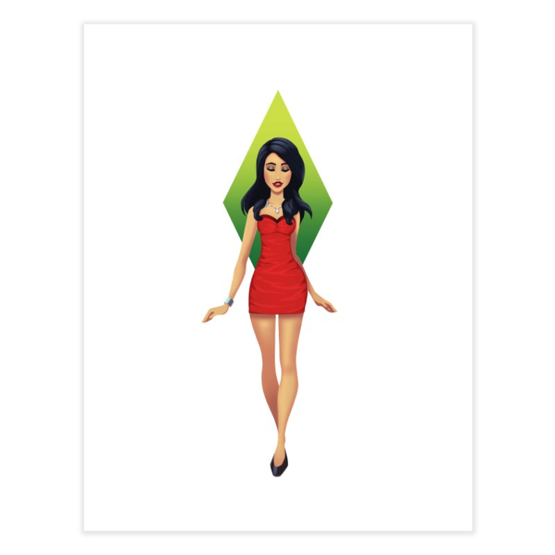 Bella Goth Home Fine Art Print by The Sims Official Threadless Store