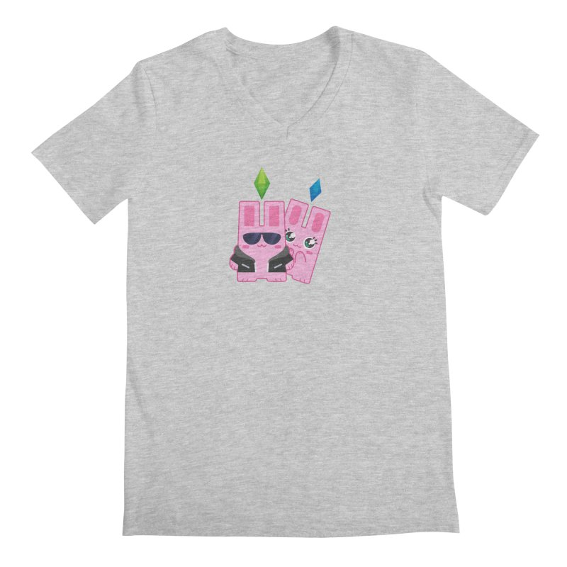 Celebrate The Sims Mobile Men's Regular V-Neck by The Sims Official Threadless Store