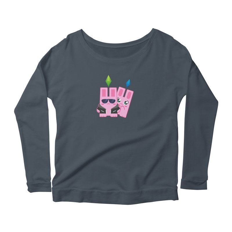 Celebrate The Sims Mobile Women's Longsleeve Scoopneck  by The Sims Official Threadless Store