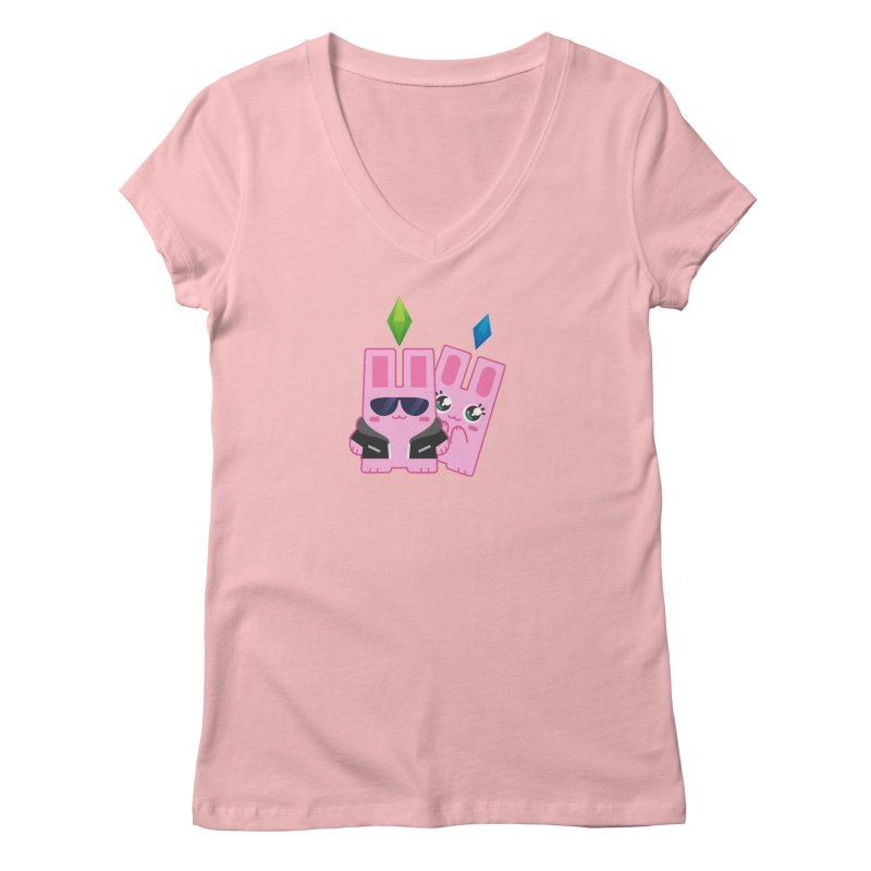 Celebrate The Sims Mobile Women's Regular V-Neck by The Sims Official Threadless Store