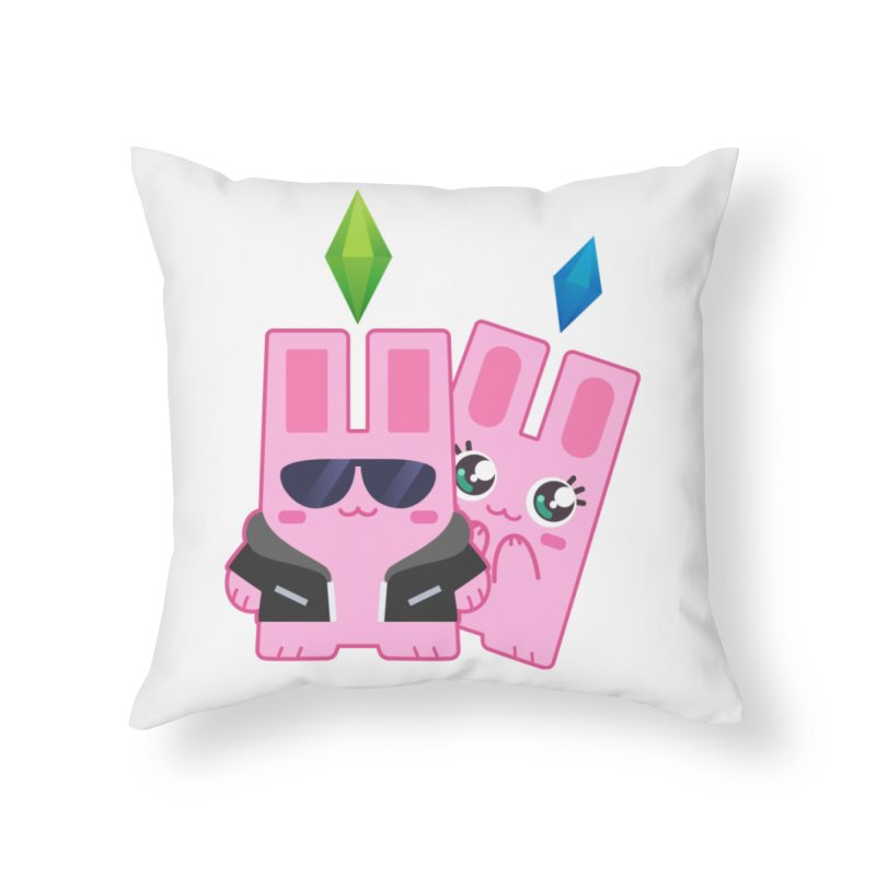 Celebrate The Sims Mobile Home Throw Pillow by The Sims Official Threadless Store