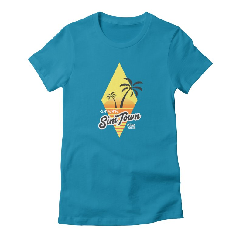SimTown Tropical Women's Fitted T-Shirt by The Sims Official Threadless Store