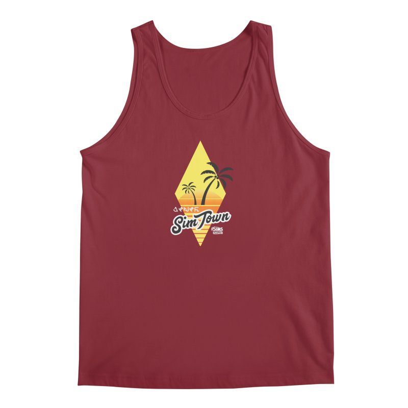 SimTown Tropical Men's Regular Tank by The Sims Official Threadless Store