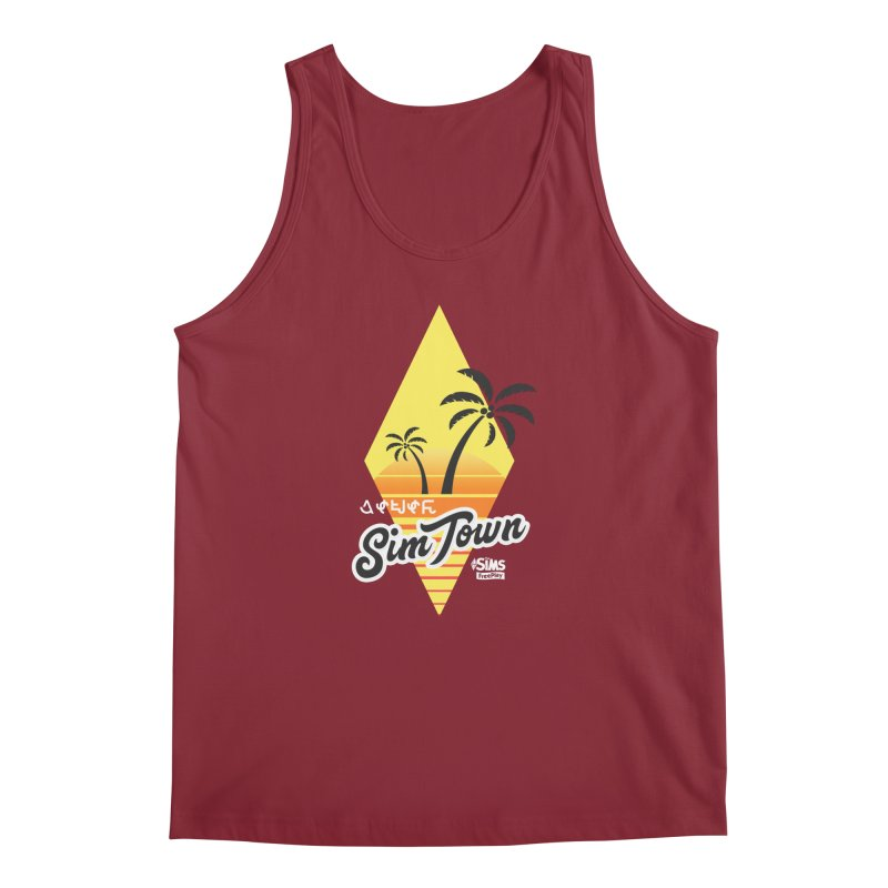 SimTown Tropical Men's Tank by The Sims Official Threadless Store