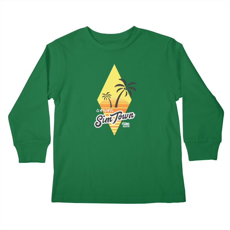 SimTown Tropical Kids Longsleeve T-Shirt by The Sims Official Threadless Store