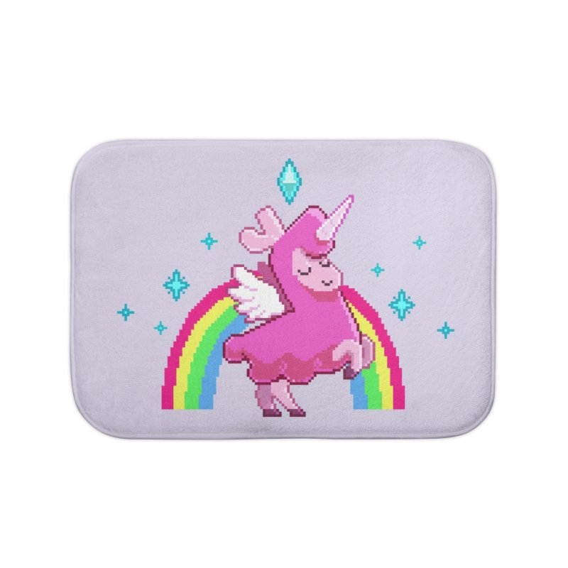 8-bit Llamacorn Home Bath Mat by The Sims Official Threadless Store
