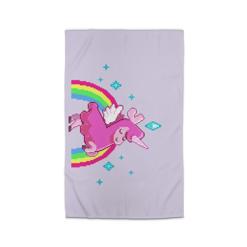 8-bit Llamacorn Home Rug by The Sims Official Threadless Store