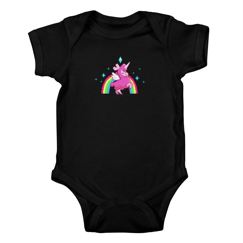 8-bit Llamacorn Kids Baby Bodysuit by The Sims Official Threadless Store
