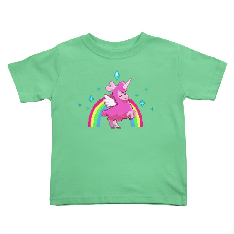 8-bit Llamacorn Kids Toddler T-Shirt by The Sims Official Threadless Store
