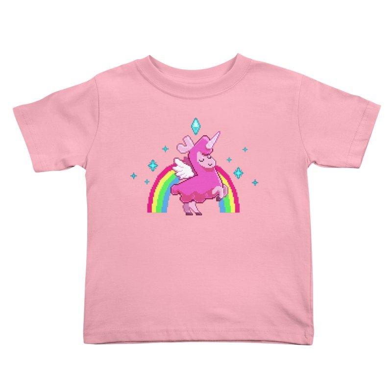 8-bit Llamacorn Kids Toddler T-Shirt by The Sims Official Threadless Store