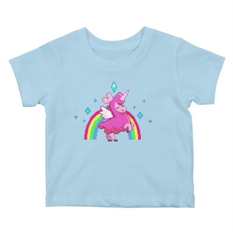 8-bit Llamacorn Kids Baby T-Shirt by The Sims Official Threadless Store