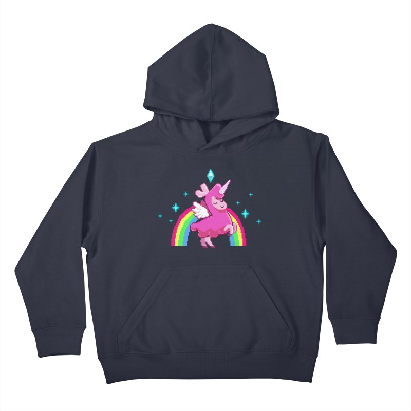 8-bit Llamacorn Kids Pullover Hoody by The Sims Official Threadless Store