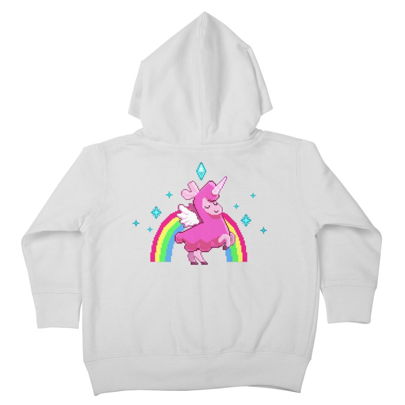 8-bit Llamacorn Kids Toddler Zip-Up Hoody by The Sims Official Threadless Store