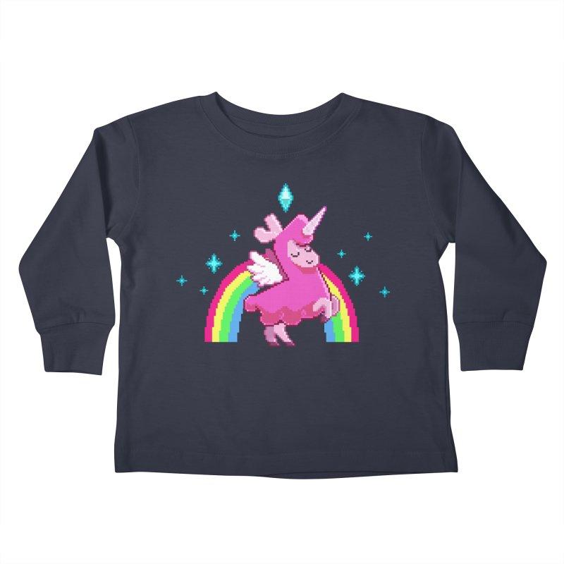 8-bit Llamacorn Kids Toddler Longsleeve T-Shirt by The Sims Official Threadless Store