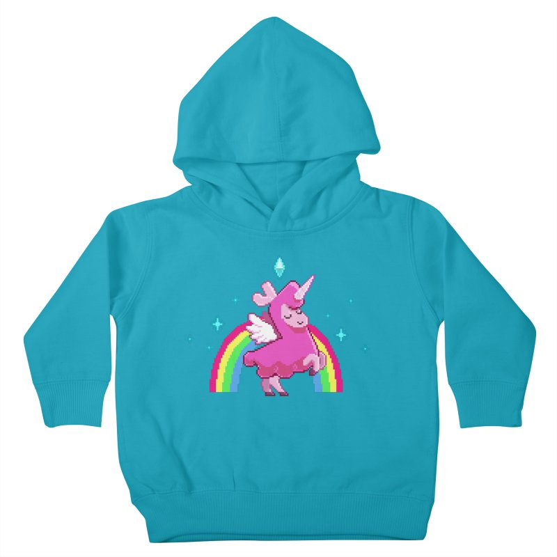 8-bit Llamacorn Kids Toddler Pullover Hoody by The Sims Official Threadless Store