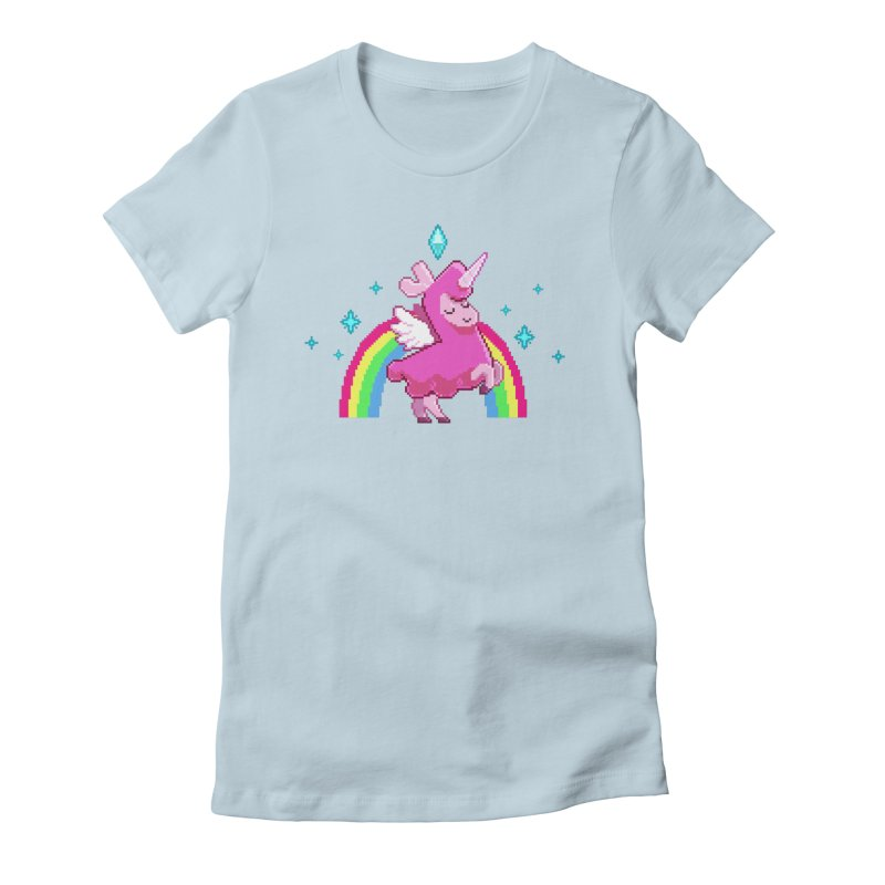 8-bit Llamacorn Women's Fitted T-Shirt by The Sims Official Threadless Store