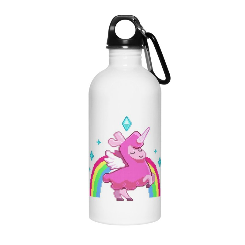 8-bit Llamacorn Accessories Water Bottle by The Sims Official Threadless Store