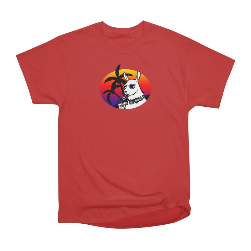Tropi-Llama Women's Heavyweight Unisex T-Shirt by The Sims Official Threadless Store