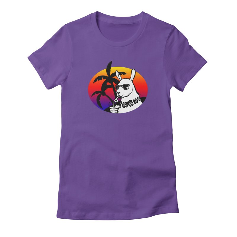 Tropi-Llama Women's Fitted T-Shirt by The Sims Official Threadless Store