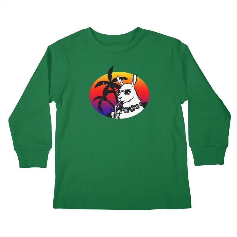 Tropi-Llama Kids Longsleeve T-Shirt by The Sims Official Threadless Store