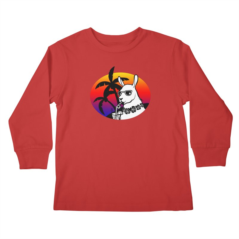 Tropi-Llama Kids Longsleeve T-Shirt by The Sims Official Threadless Store