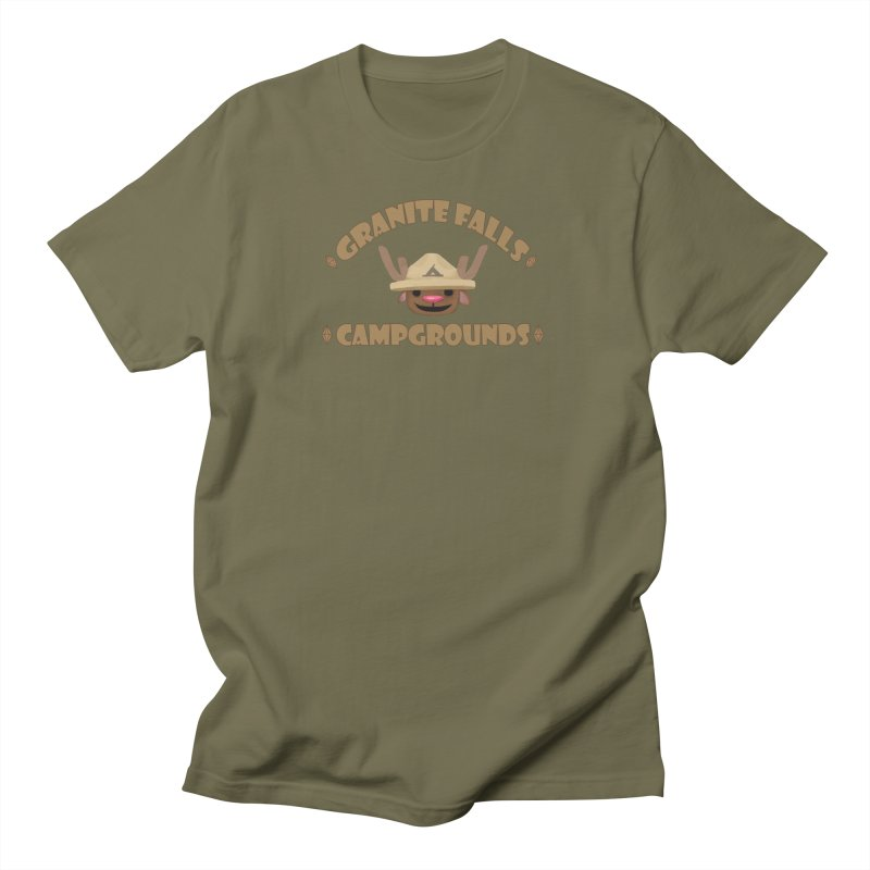 Welcome to Granite Falls! in Men's T-Shirt Olive by The Sims Official Threadless Store