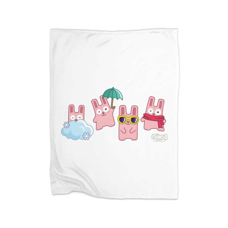 Forecast Bunnies Home Fleece Blanket Blanket by The Sims Official Threadless Store