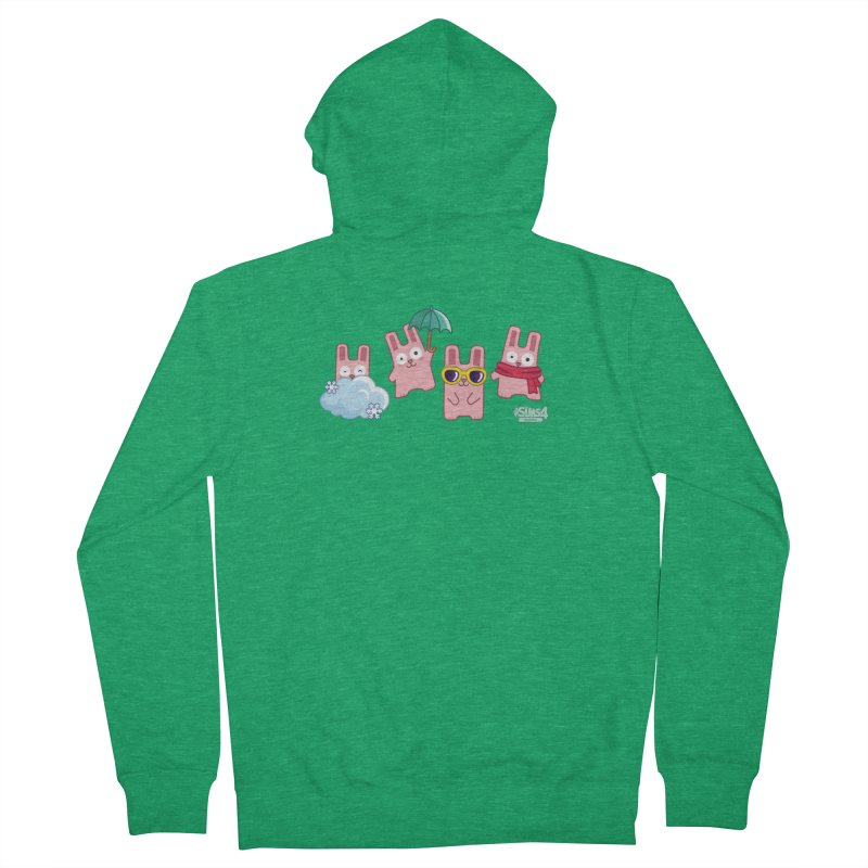 Forecast Bunnies Women's Zip-Up Hoody by The Sims Official Threadless Store