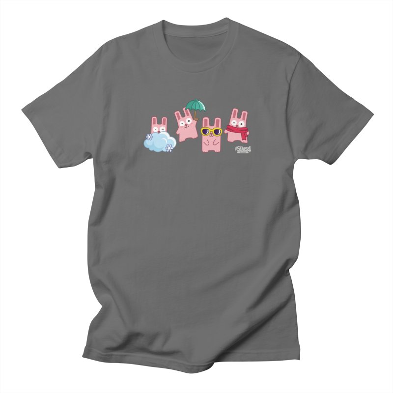 Forecast Bunnies in Men's Regular T-Shirt Asphalt by The Sims Official Threadless Store