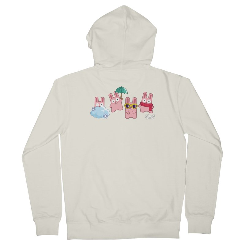 Forecast Bunnies Men's French Terry Zip-Up Hoody by The Sims Official Threadless Store
