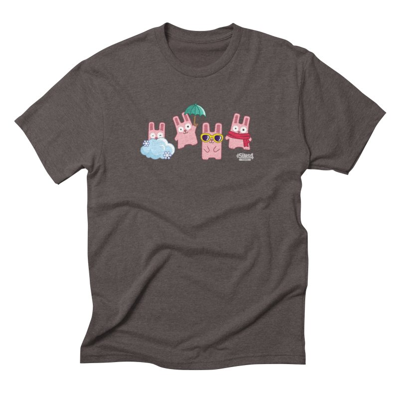 Forecast Bunnies Men's Triblend T-Shirt by The Sims Official Threadless Store