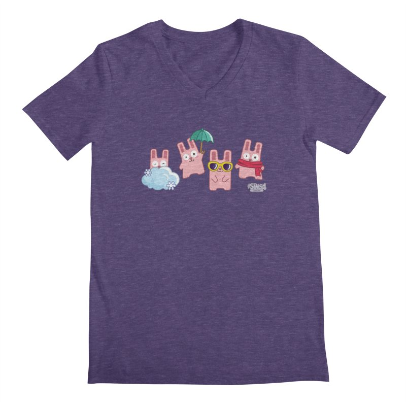 Forecast Bunnies Men's Regular V-Neck by The Sims Official Threadless Store