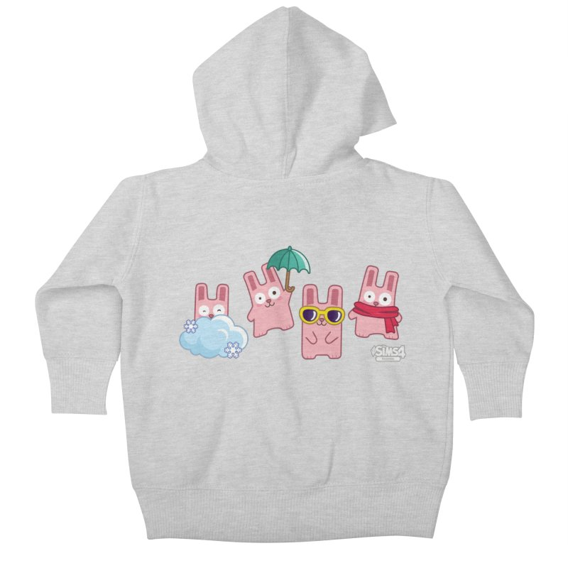 Forecast Bunnies Kids Baby Zip-Up Hoody by The Sims Official Threadless Store