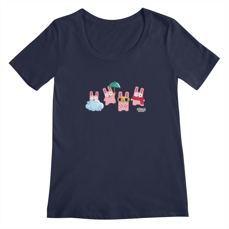 Forecast Bunnies Women's Regular Scoop Neck by The Sims Official Threadless Store