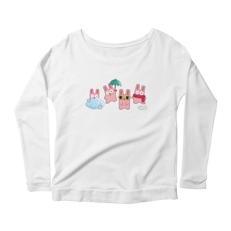 Forecast Bunnies Women's Scoop Neck Longsleeve T-Shirt by The Sims Official Threadless Store