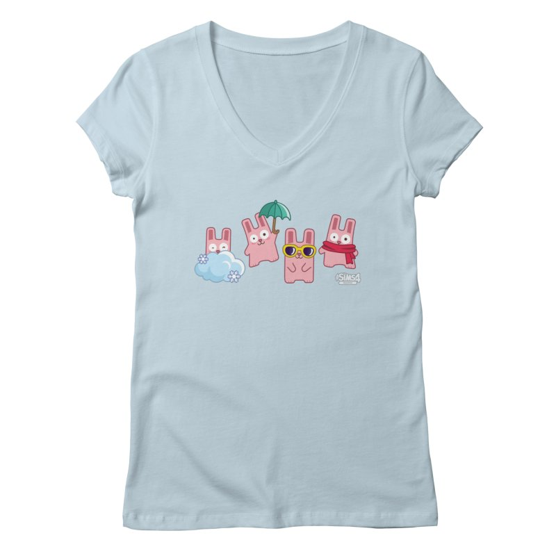 Forecast Bunnies Women's Regular V-Neck by The Sims Official Threadless Store